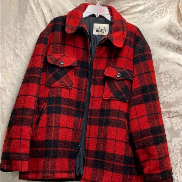 Woolrich Other - Vintage Woolrich Red and Black Winter Coat XL